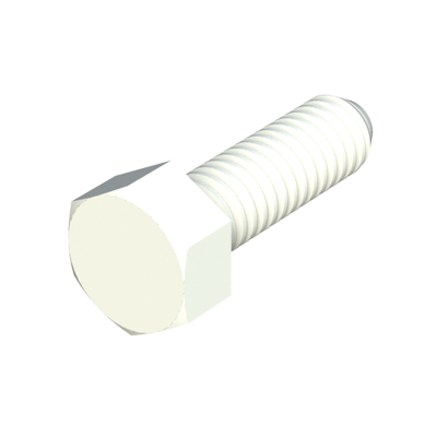 Hexagonal unslotted head screw PP - POM - PVDF