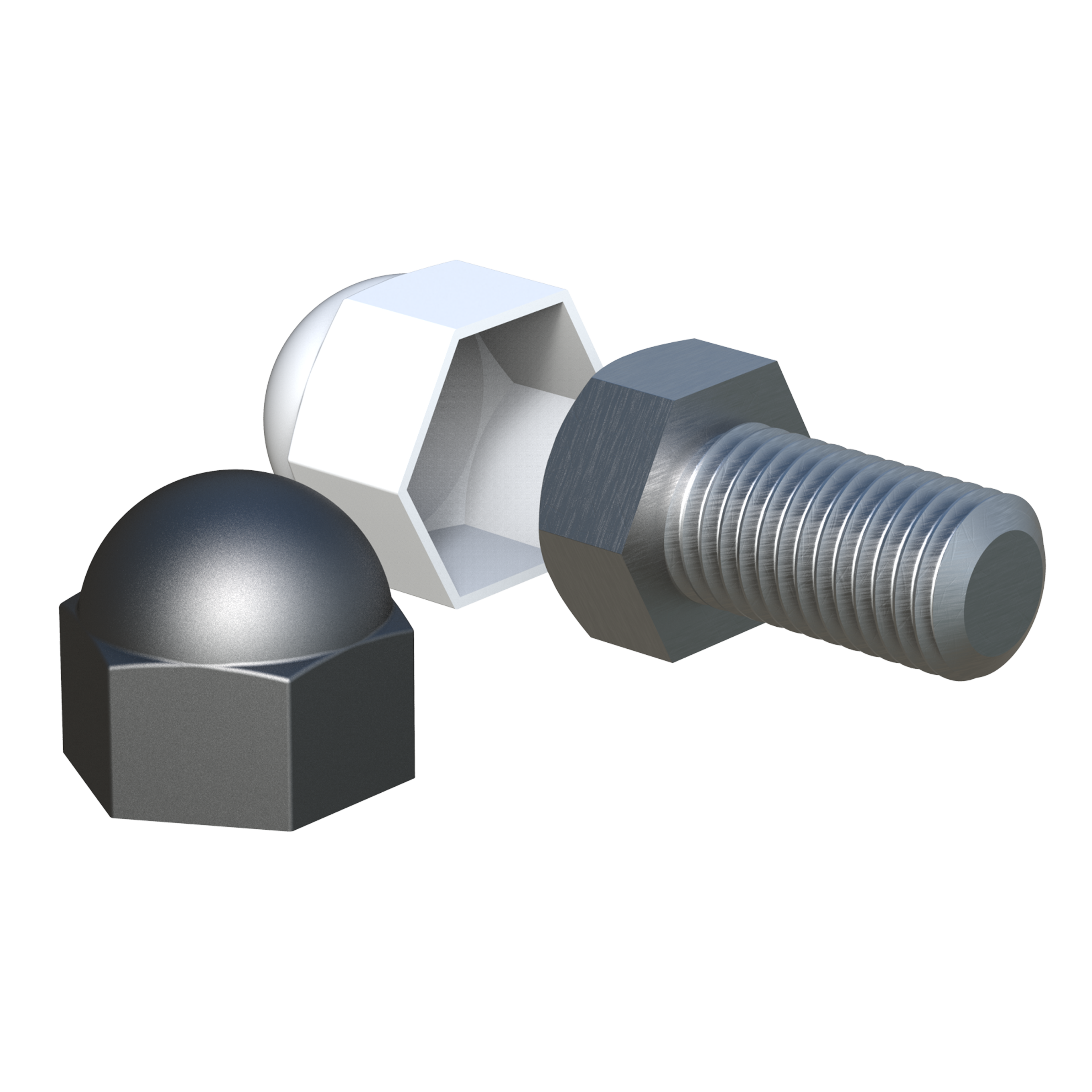 Protection cap for hexagon nuts