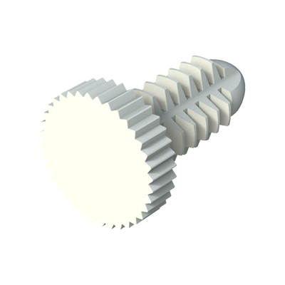 Spin clip - Unslotted knurled screw
