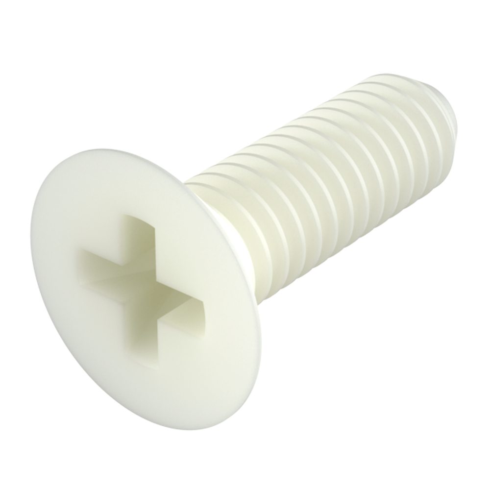 Flat phillips head screw