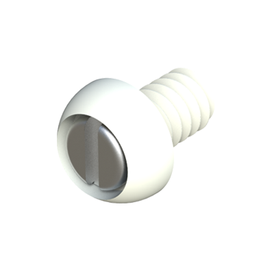 Round reinforced screw